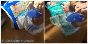 Wassertest Pampers und Babylove