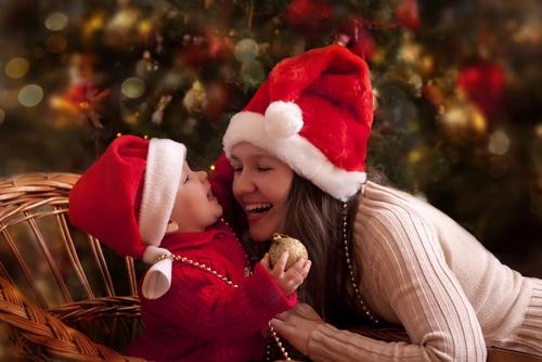 weihnachten schneekugel basteln marmeladengläser babyfoto