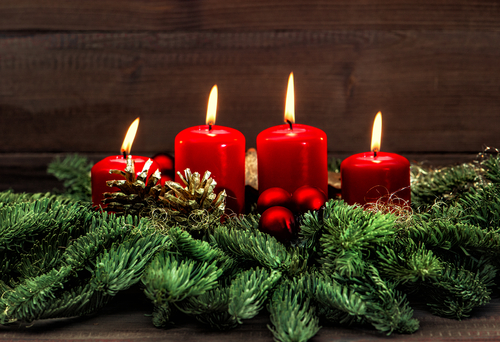 4 kerzen im advent