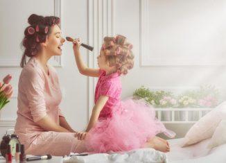 Beauty-Routine mit Kind